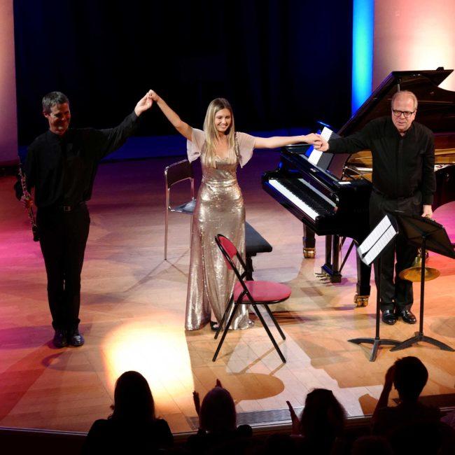David Walter, Vanessa Benelli Mosell et Denis Simándy au Festival Clef de Soleil