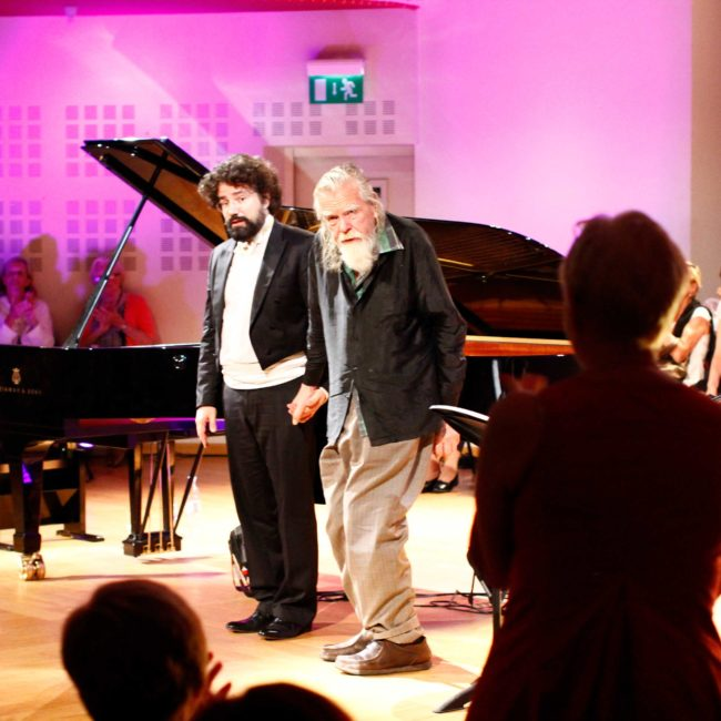 Nicolas Celoro et Michale Lonsdale au au Festival Clef de Soleil