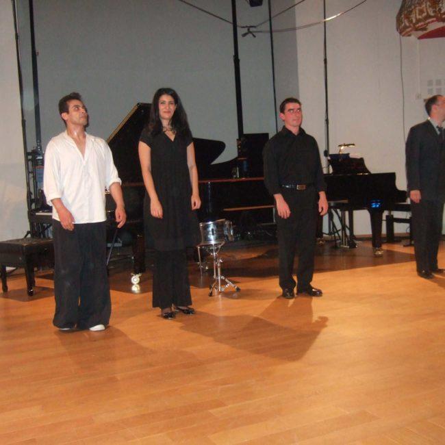 Saïd Yaagoub, Myriam Farid, Pierre Quiriny et André Ristic au Festival Clef de Soleil