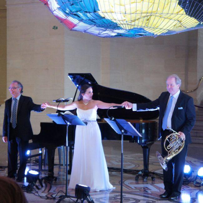 Alain Raës, Gabrielle Philiponet et Denis Simándy au Festival Clef de Soleil