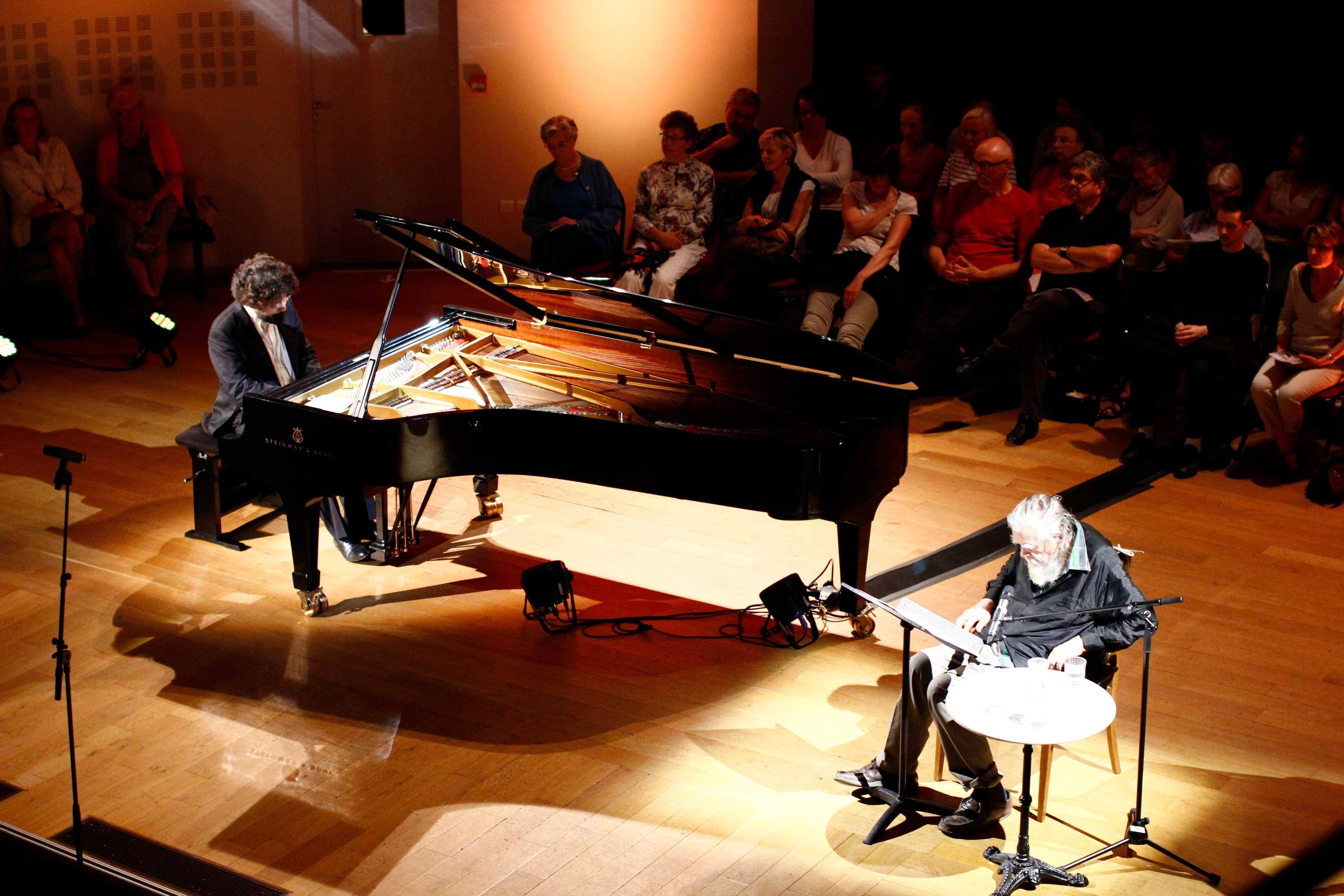 Nicolas Celoro et Michael Lonsdale au Festival Clef de Soleil