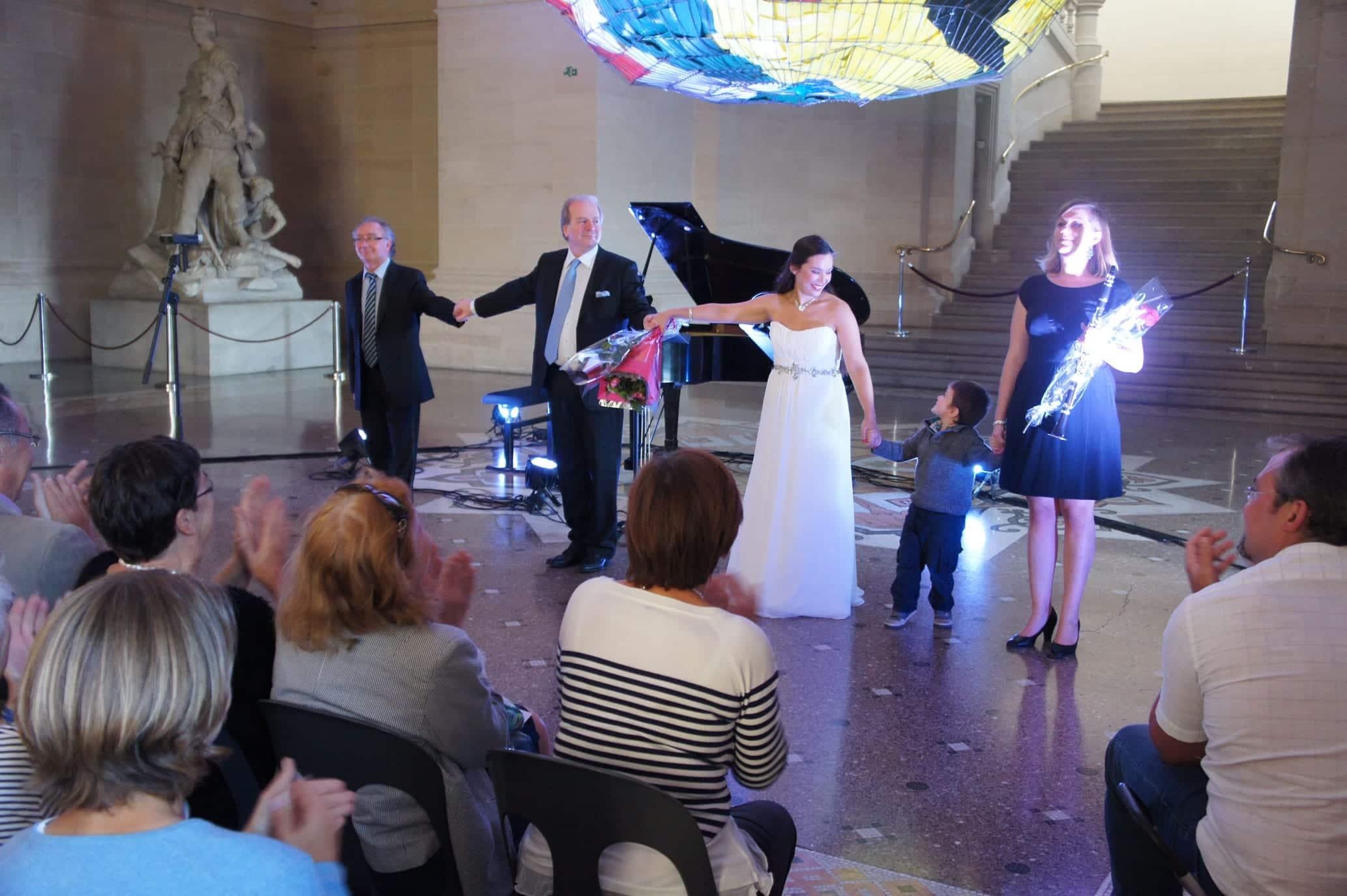 Alain Raës, Denis Simándy, Gabrielle Philiponet et Fanny Vasseur au Festival Clef de Soleil