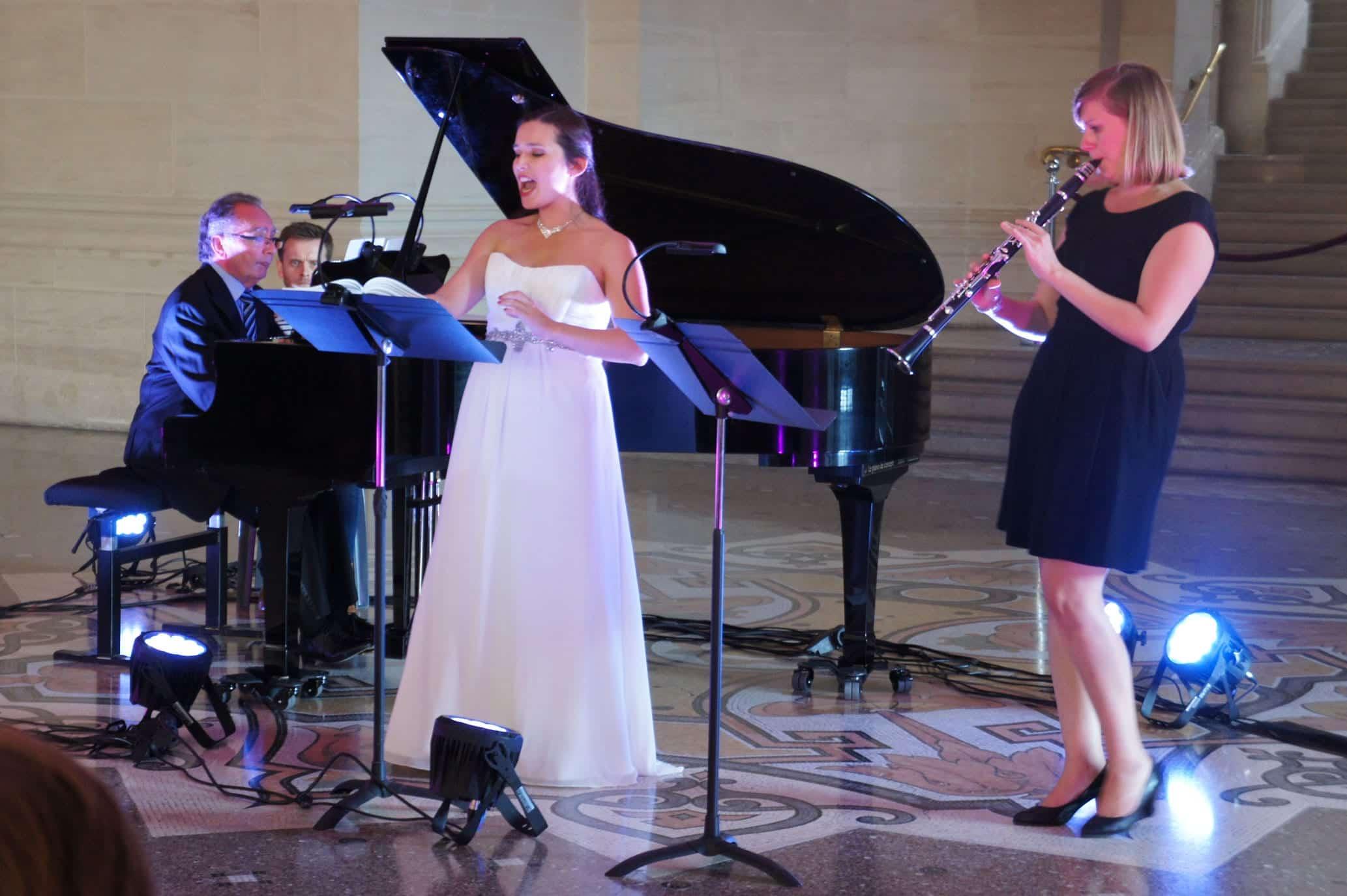 Alain Raës, Gabrielle Philiponet et Fanny Vasseur au Festival Clef de Soleil