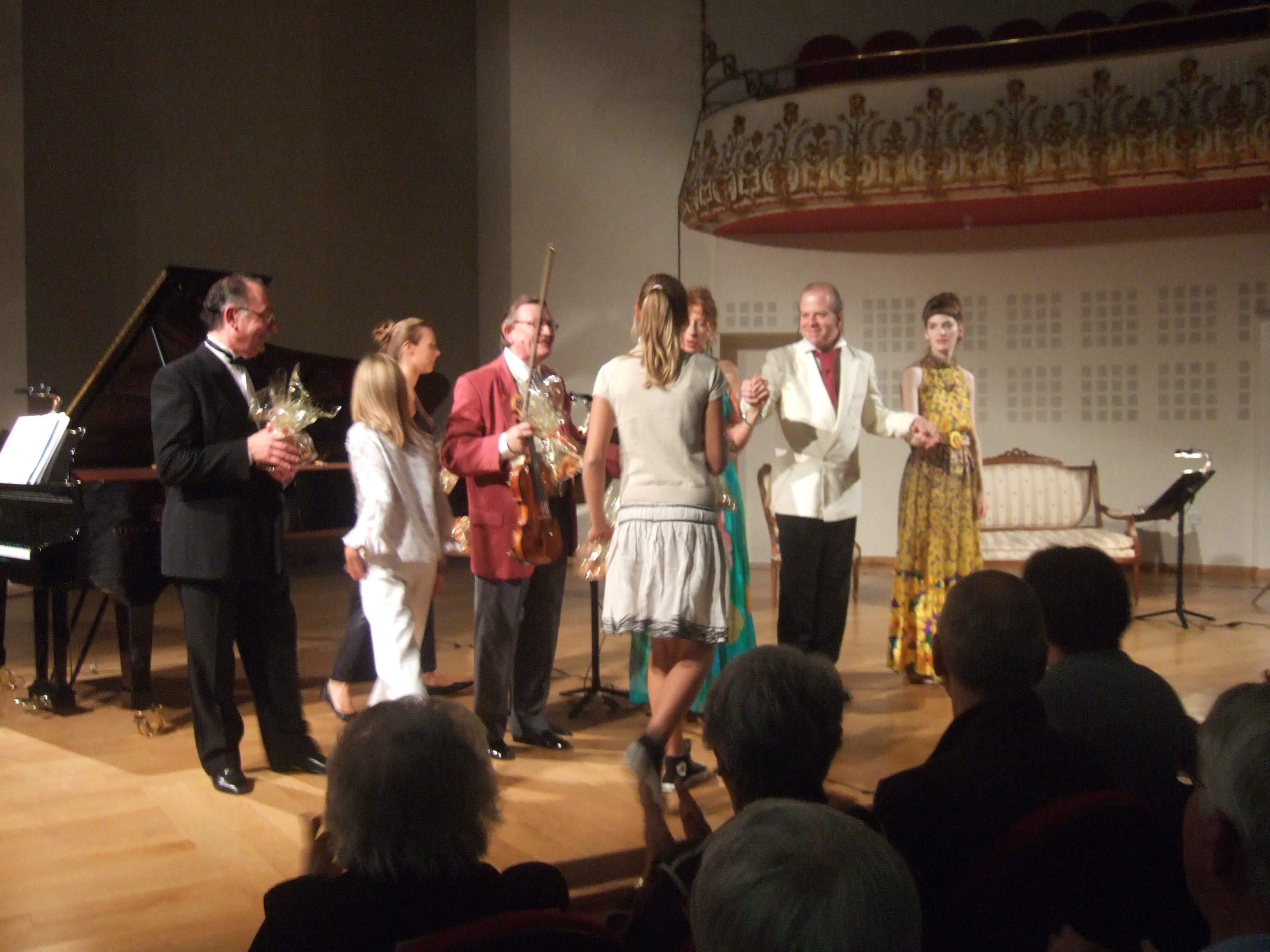 Alain Raës, Jean-Pierre Sabouret, Marie Rivière, Carole Anderson, Denis Simándy et Laure-Lucile Simon au Festival Clef de Soleil