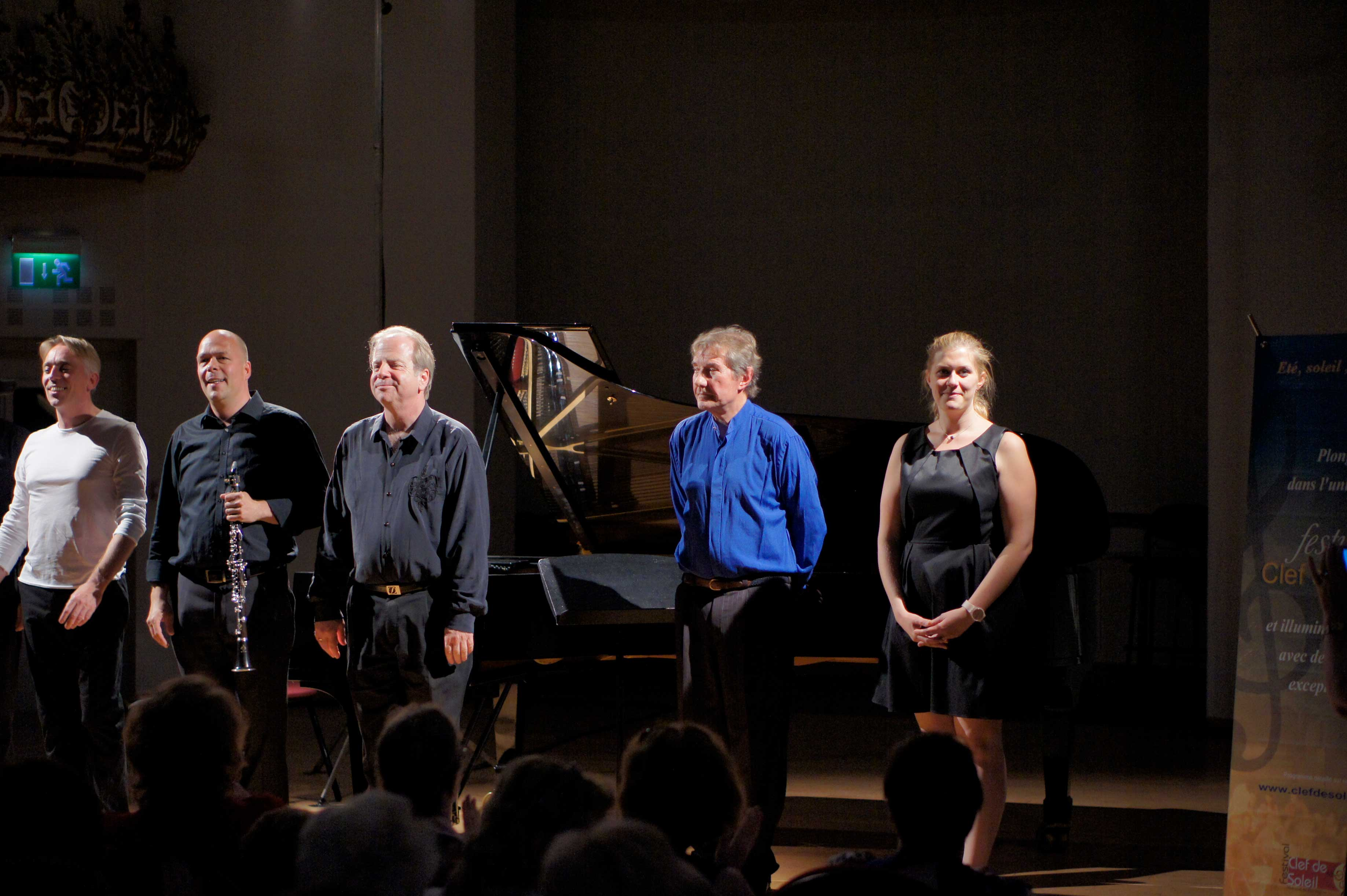 Berten D'Hollander, Charles Michiels, Denis Simándy, Gabriel Tacchino et Fanny Vasseur au Festival Clef de Soleil