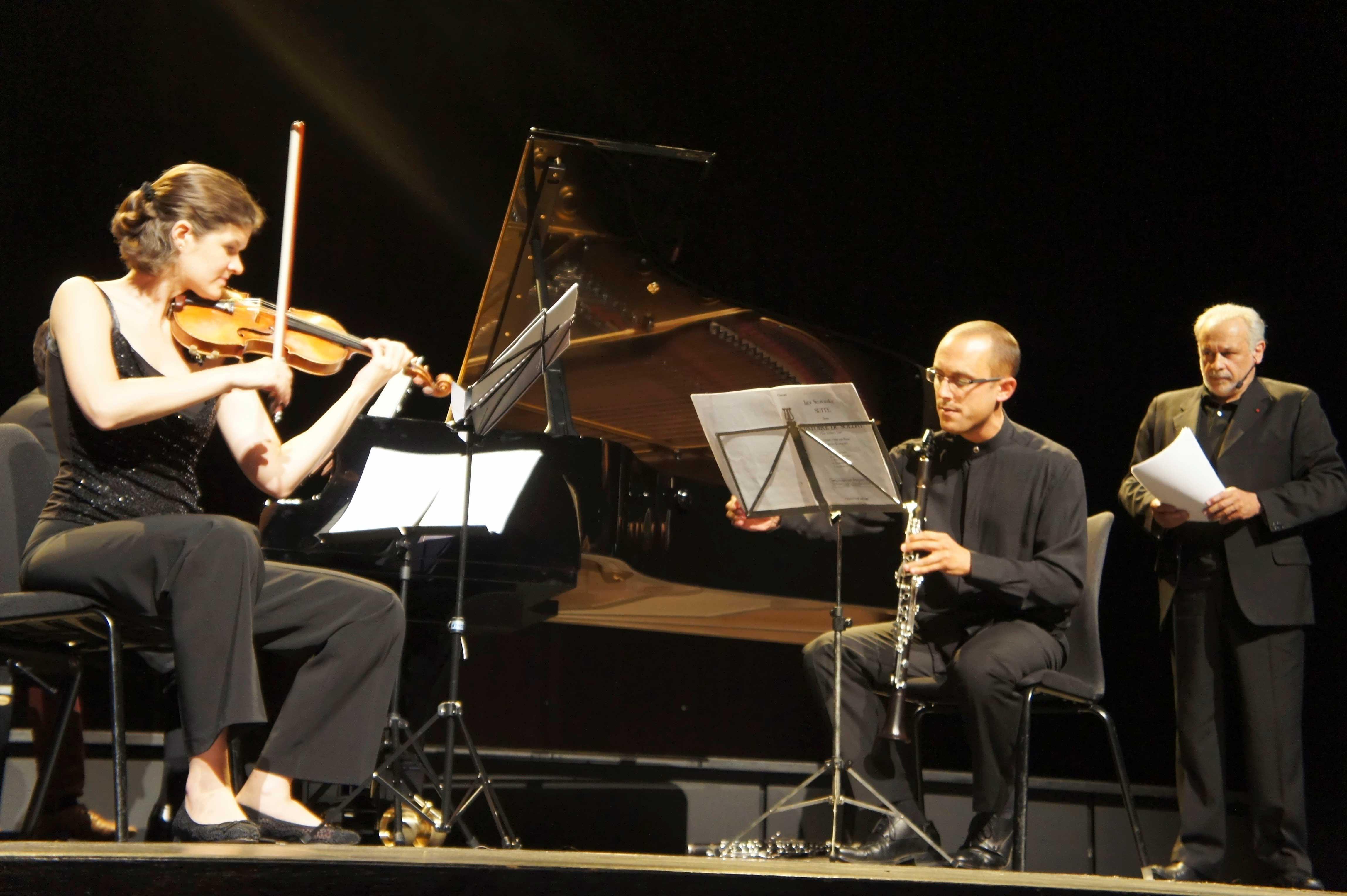 Elsa Grether, Jean-Luc Votano et Francis Perrin au Festival Clef de Soleil
