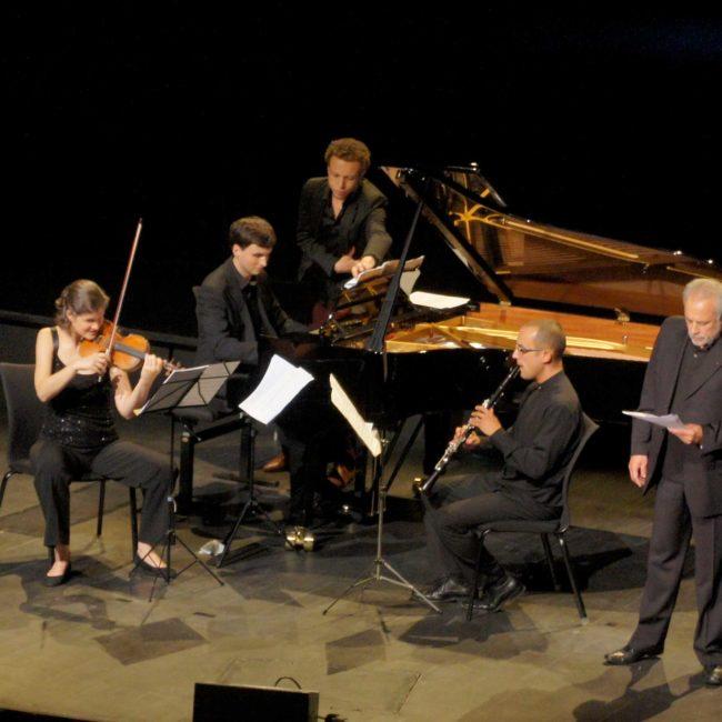 Elsa Grether, Olivier Moulin, Jean-Luc Votano et Francis Perrin au Festival Clef de Soleil