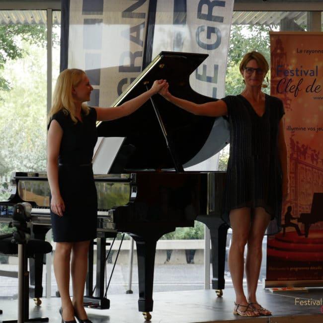 Galina Ermakova et Laure Montagne de Perluette
